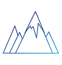 Snowy mountains isolated icon vector