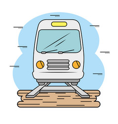 Subway and railroad icon vector
