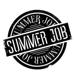 Summer job rubber stamp vector