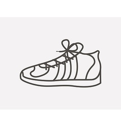 tennis shoes design vector image