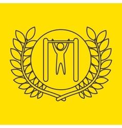 Uneven bar sportsman flag background design vector