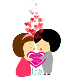 Valentines lovely vector