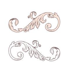 vintage baroque victorian frame border monogram vector image vector image