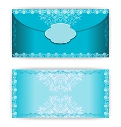 Vintage paper horizontal invitation card vector image vector image