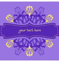Violet ornate background vector image