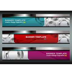 Banners Technology Template Design vector image