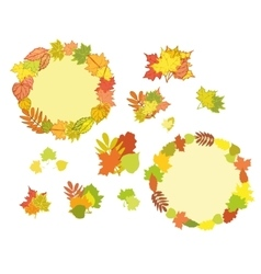 Set of hand drawn autumn vector