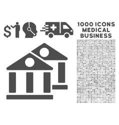 Banks icon with 1000 medical business symbols vector