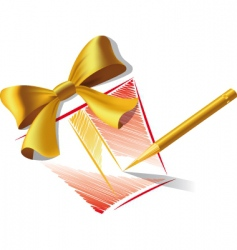 pencil and gift vector image