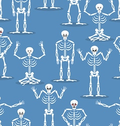 Skeleton background bones and skull ornament vector