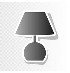 lamp sign   new year blackish vector image