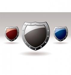 metal shield icons vector image