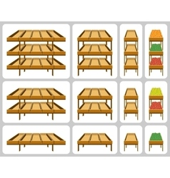 Shelves for shops vector