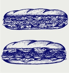Submarine sandwich vector