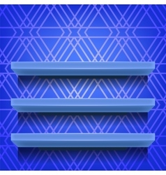 Blue empty shelves vector