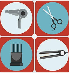 Feminine Beauty Hairstyling Tools colorful icon vector image
