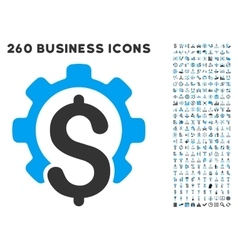 Financial industry icon with flat set vector