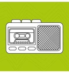 Radio recording design vector