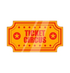 Circus show paper tickets icon cartoon style vector