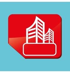 Real estate design building concept property vector