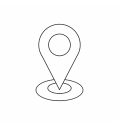 Map pointer icon outline style vector