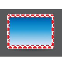 Black Tablet PC vector image