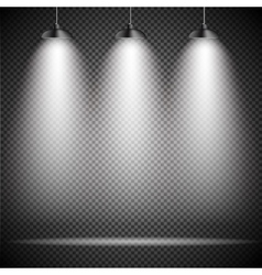 Bright with Lighting Spotlights Lamp vector image