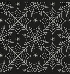 cobweb seamless pattern spider repetitive texture vector image