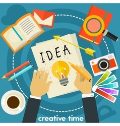 Creative Time Concept vector image
