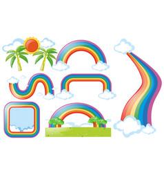 different design of rainbow vector image