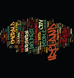 Emerald ireland text background word cloud concept vector