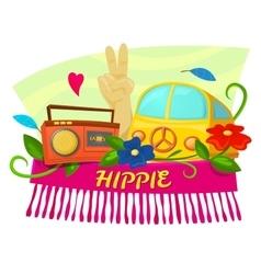 Hippie concept design vector image