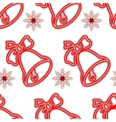 Jingle bells seamless christmas pattern vector