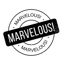Marvelous rubber stamp vector