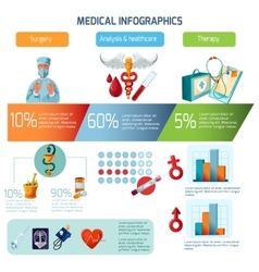 Medical Infographics Set vector image vector image