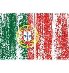 Portuguese grunge flag vector image vector image