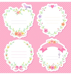 romantic frames scrap vector image