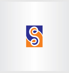 s letter blue orange logo symbol icon vector image vector image