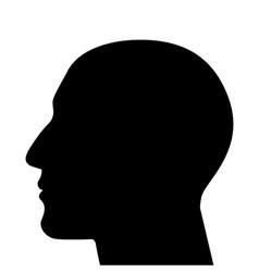 silhouette of a head vector image