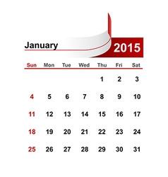 Simple calendar 2015 year january month vector