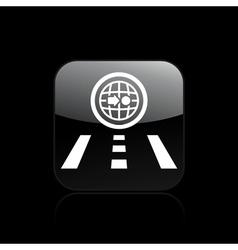 single navigate icon vector image