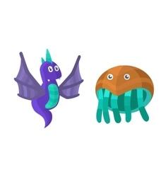 Fantasy monsters set vector