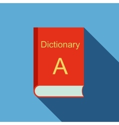 Dictionary icon flat style vector