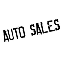 Auto sales rubber stamp vector