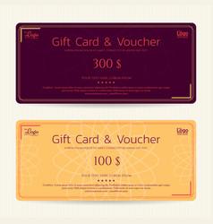 Elegant gift card or gift voucher template vector