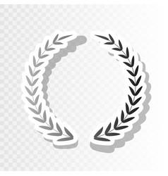 laurel wreath sign  new year blackish icon vector image