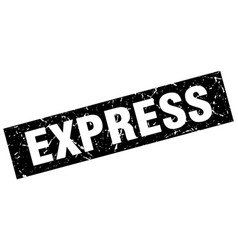 Square grunge black express stamp vector