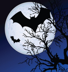 Bat fly in the moonlight vector
