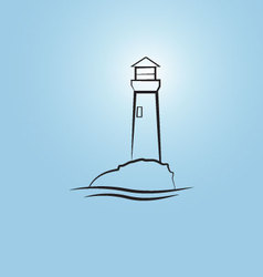 Abstract lighthouse vector