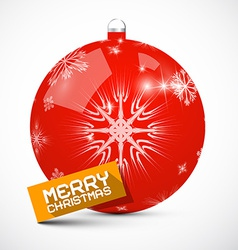 Merry christmas red ball vector